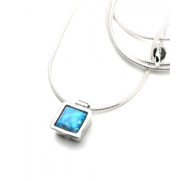 Simple Pretty Pendant with Square Opal