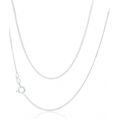 Sterling Silver Fine Curb Chain 16""