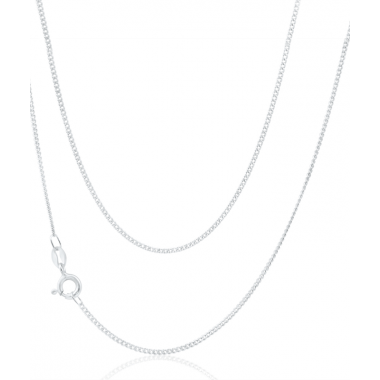 Sterling Silver Fine Curb Chain 18""