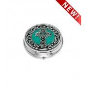 Pill box (LARGE) - Celtic Cross and Knots
