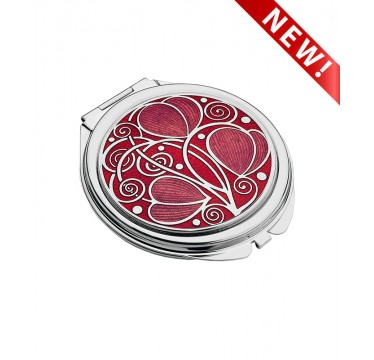 Compact Mirror - Mackintosh Leaves and Coils