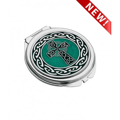 Compact Mirror -  Celtic Cross and Knots