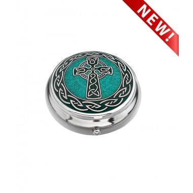 Pill box -  Celtic Cross and Knots