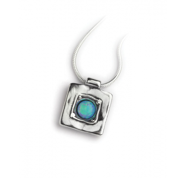 Sterling Silver and Opal Square