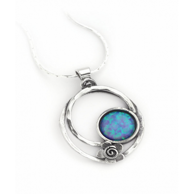 Oval Opal Pendant Necklace