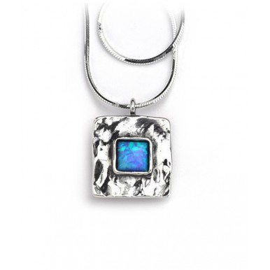 A Square Pendant with Square Opal Stone