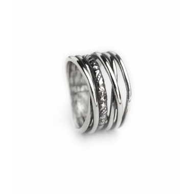 Sliver Multi Wavy Band