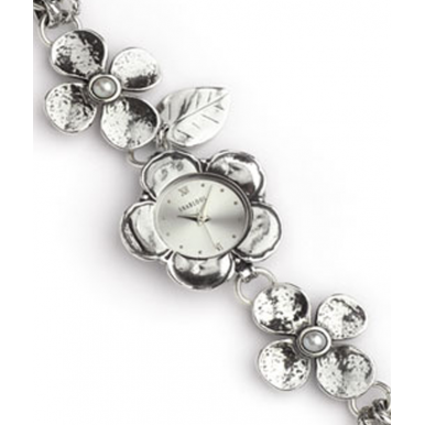 Sterling Silver and Pearl Flower Watch
