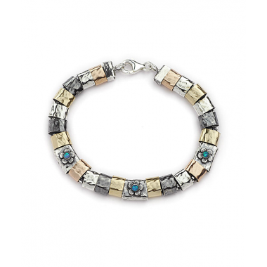 Mix 9k Gold and Silver Beads Bracelet