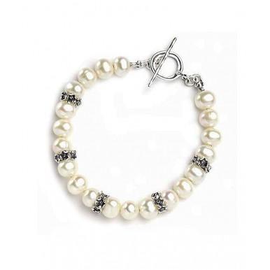 Chunky Freshwater Pearls T-bar Bracelet