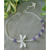 Darlene Sterling Silver Dragonfly and Semi-precious Bracelet