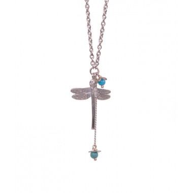 Dragonfly and Little Flower Pendant