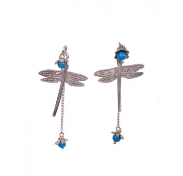 Dragonfly with Little Flower Earrings
