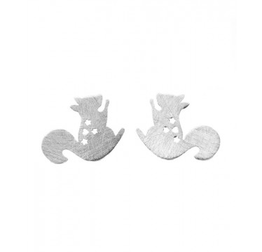 Cute Squirrel Stud Earrings - Buried Treasure