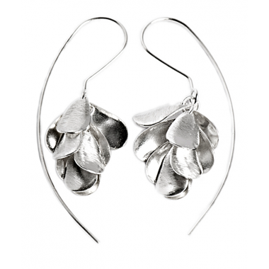 Long Hook Earrings - Hanging Foxglove Flower