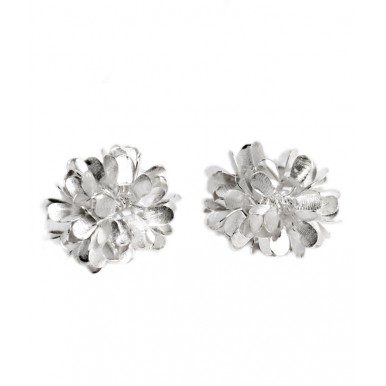 Silver Dandelion Days Stud Earrings