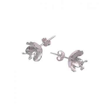 Silver Hawthorn Stud Earrings