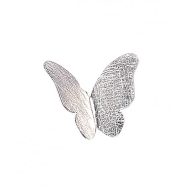 Silver Satin Butterfly Pendant