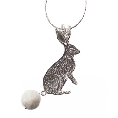 Cute Sterling Silver Rabbit / Hare