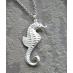 Marissa Sterling Silver Seahorse Necklace