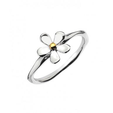 Single Daisy Ring with a Golden Center