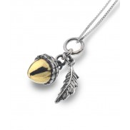 Acorn and Leaf Necklace