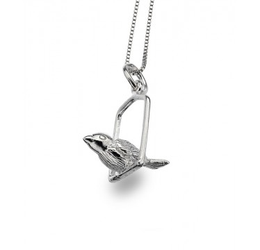 Bird on a Swing Necklace