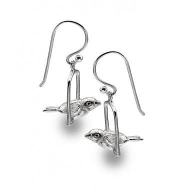 Bird on a Swing Drop Earrings