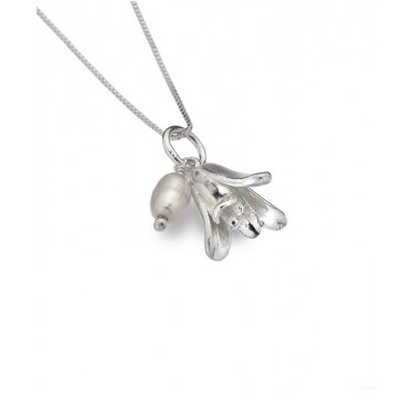 Bluebell Necklace with a Freshwater Pearl