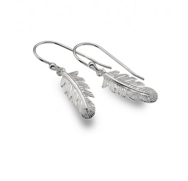 Small Feather Drop Earrings