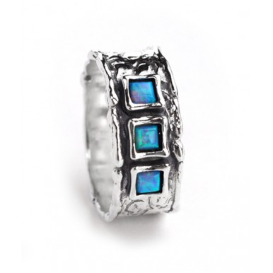 3 Opal Squares - Ring