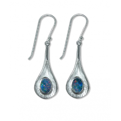 Lily - Silver and Opal Earrings