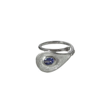 Silver and Tanzanite Ring - Lily