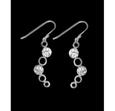 Silver Earrings - 6 Circles