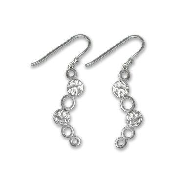 Silver Earrings - 6 Circles