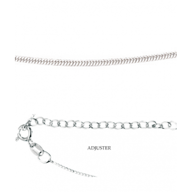Sterling Silver Snake Chain Adjustable 16-18""