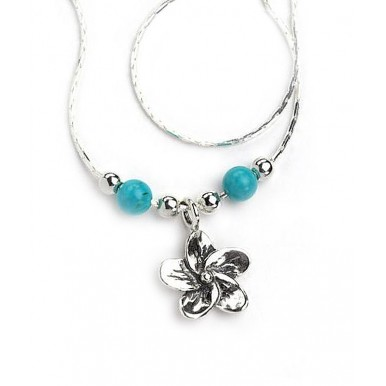 Turquoise Flower Necklace - LAST ONE