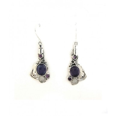 Amethyst Earrings - Stunning and Unique Design