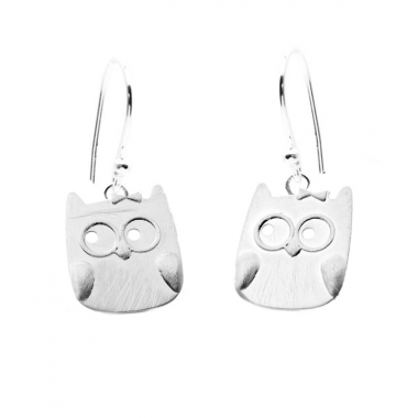 Cute Owl Hook Earrings